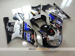 Wholesale Motorcycle Fairings For Suzuki - New motorcycle bodywork kit FOR SUZUKI GSXR 600 750 fairings K1 2001 2002 2003 GSXR600 GSXR750 01 02 03 ABS fairing kits black white blue