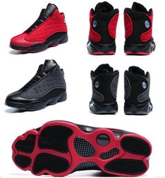 Wholesale Air 3d - Air Retro 13 Wool plush black red 3D eye Wholesale Basketball Shoes Men With Box Free shipping Men size