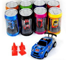 Wholesale Remote Control Racers - Free Epacket 8 color Mini-Racer Remote Control Car Coke Can Mini RC Radio Remote Control Micro Racing 1:64 Car 8803
