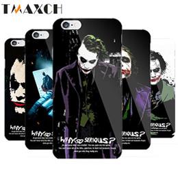 Wholesale Iphone Casing Unique - Unique Batman Dark Knight Joker Karta Print Case for iPhone 5s 5 6 6s Cover caso capa para 6 Designs plastic hard Case