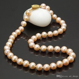 Wholesale Pink Fresh Water Pearl Necklace - s271 Mother's 9-10mm pink fresh water cultured pearl necklace