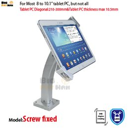 Wholesale Pc Theft - Universal wall mount tablet pc anti-theft holder security display tablet stand for 7-10.1 inch ipad samsung ASUS Acer Huawe