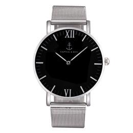 Wholesale Men Metal Stainless Steel - Fashion KAPTEN & SON Brand women men Unisex steel metal band quartz wrist watch