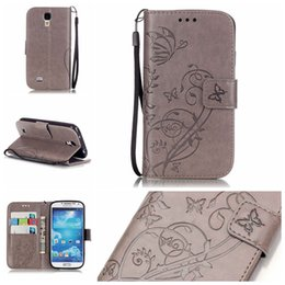 Wholesale Galaxy S4 Luxury Leather Cover - Galaxy S4 Case - Luxury PU Leather Wallet Shockproof Case for Samsung Galaxy S4 I9500 Flip Bracket Cover with retail package