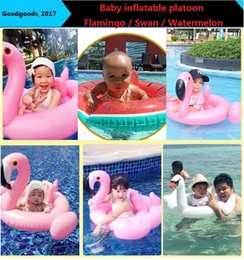 Wholesale Swimming Baby Rings - In stock Pool Float baby Inflatable flamingo swan watermelon Pegasus Water Swimming Swim Ring Pool Toy for swimming inflatable pool toysM757