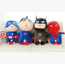 Wholesale Captain America Stuffed Animal - 2017 New stuffed toys Spider-Man Hulk Superman iron Man Captain America Stuffed Animals Cartoon lovely Christmas Plush Toys