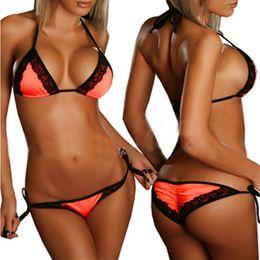 Wholesale two piece bikini bandeau - 2017 Spring Summer New Bandeau Women Sexy Bikini Two 2 Piece Halter Top Set Brazilian Swimsuits Swimwear Bathing Suits Bikini XL