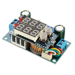 Wholesale Display Controller Board - Freeshipping Electric Solar Panel Controller 5A DC-DC Step-down CC CV Charging Module Display LED 60 x 31 x 22 mm Board