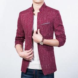 Wholesale Casual Slim Fit Business Suits - 2017 new arrival solid color slim fit mens blazer fashion men casual suit jackets business outerwear M-5XL