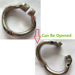 Wholesale Steel Metal Chastity Cage - New Arrival Open Mouth 38mm 41mm 51mm 57mm design Stainless steel metal chastity male chastity devices chastity cage ring 4 sizes for choose