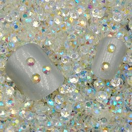 Wholesale Hotfix Clear Rhinestones 3mm - Wholesale-3MM 5000pcs Crystal Clear Jelly AB Color Nail Art Resin Rhinestones Non HotFix Rhinestones For Nail Art Decorations Accessories