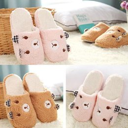 Wholesale Ladies Canvas Shoes Wholesale - Wholesale-Womens Ladies Girl Cute Love Slippers Non Slip Plush Soft Home Shoes