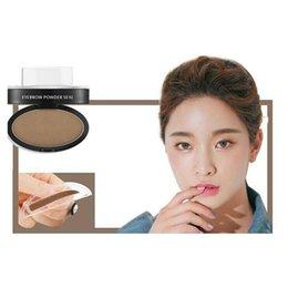 Wholesale Makeup Sombra - Wholesale- Eyebrow Stamp Powder Enhancer Eyebrow Beauty Makeup Tools Natural Eyebrow Powder sombra para sobrancelha#121