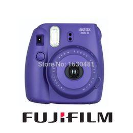 Wholesale New Fuji Camera - Wholesale-Fujifilm Fuji Instax Mini 8 Instant Film Photo Camera Grape Purple New Popular Color Fuji Instax Camera