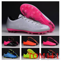 Wholesale Victory Boots - Freeshipping Soccer Shoes Boots Men's Mercurial Victory V TF-AG boots Orange Football Boots Sneakers Running Shoes 38-45