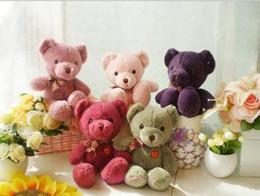 Wholesale Soft Teddy Bears Wholesalers - Cute Teddy Bear Plush Stuffed Animals Toys 26cm Soft Lovers Plush Doll Christmas Gift for Kids Boys Girls Wholesale Wedding Event Favor