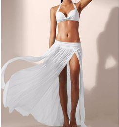Wholesale Skirted Yellow Bikini - Europe elastic mesh beach Skirt 4 leaves skirt blouse bikinis (excluding bikinis)