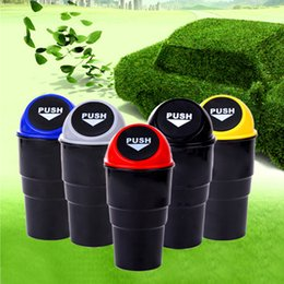 Wholesale Mini Garbage - New Car Garbage Can Trash Can Garbage Dust Case Holder Case Bin Rubbish Bin Car-Styling Mini Office Home Auto Vehicle MSHK132
