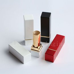 Wholesale Metal Lipstick Containers - empty square frosting lip gloss containers High quality DIY lipstick cosmetic Tube, lip balm tube containers, lip stick tubes