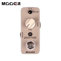 Wholesale Grey Electric Guitars - Mooer Grey Faze Fuzz Pedal A smooth, vintage fuzz sound guitar effect pedals