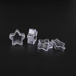 polvere piccola bottiglia Sconti Vaso di plastica del contenitore cosmetico di progettazione della stella vuota 5g con la bottiglia / vaso / vaso del campione del coperchio per arte del chiodo / polvere 100pcs / lot