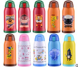 Wholesale Wholesale Children Water Bottles - 2017 The new children 's insulation Cup cartoon insulation pot creative students strap cold - water stainless steel straw