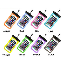Wholesale Wholesalers Blackberry Phones China - Waterproof Cell Phone Bag Cover for Galaxy s3 iPhone 5C 7 iphone6 plus iphone5 Neck Pouch Water Proof Bags Protector Case Universal China