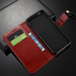 Wholesale Oppo Blue Bag - 1pcs Lot For OPPO A39 A57 Luxury Wallet Retro Flip Leather Case With Card Slots Stand Holder Business Style Phone Bags Case
