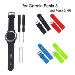 Wholesale Garmin Blue - Free Shipping Coloful Superior Silicone Replacement Watch Band Strap for Garmin Fenix 3 and Fenix3 HR