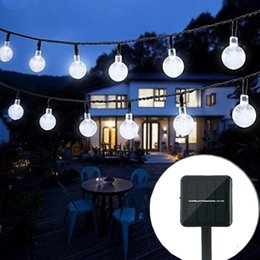 Wholesale Blue Tree Landscaping - Solar String Light 20ft 30LED Crystal Ball Waterproof String Lights Solar Powered Fairy Lighting for Christmas Party Garden Patio Landscape