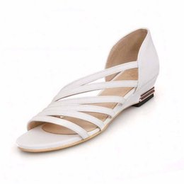 Wholesale Dress For Big Size Women - Roman Low Wedge Heel Casual Dress Summer Shoes Sandals for Women Fashion Shoes Big Size Women's Sandals