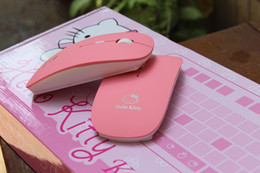 Wholesale Pink Laptops For Kids - Cartoon Design Wireless Optical Pink Hello Kitty Hellokitty Gaming Mouse Mice Mause for Laptop Notebook Computer Kids Gift