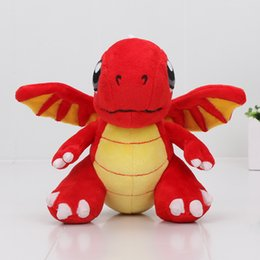 Wholesale Dragon Stuffed Doll - 16.5cm Animal Dolls Red Fire Dragon Plush Toys Soft Stuffed Seasonal Dragon For Christmas gifts