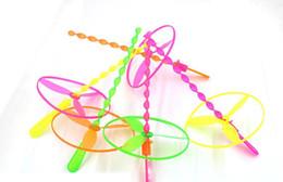 Wholesale Bamboo Arrows - Wholesale push toys Frisbee flying saucer three light-emitting boats henbane Arrows luminous bamboo dragonfly Sale