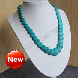 Wholesale Green Howlite Turquoise Beads - Necklace6-14mm Turkey Turquoise Blue beads Jasper Howlite beads Necklace women girls gift 18inch Jewelry making design wholesale