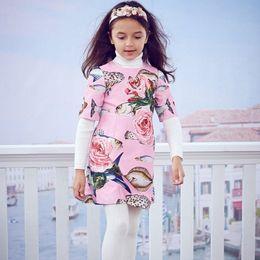 Wholesale Fishing Line Brands - Kidsalon Toddler Girls Dresses Children Clothing 2017 Brand Autumn Princess Dress for Girls Clothes Fish Pattern Kids Dress