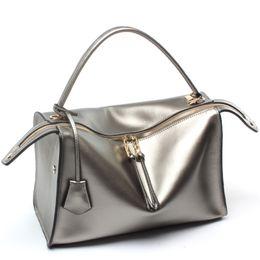 Wholesale Real Leather Handbag Hobo - Luxury Genuine Leather Women Handbags Office Fashion Brand Design Real Leather Shoulder Bag Vintage HIgh Quality Bag L5036