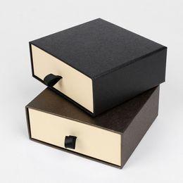 Wholesale Women Apparel Wholesalers - Men's Belt Storage Box For Men Women, 2 Color Drawer Style Belt Gift Packaging Box Organizer (Black Brown)