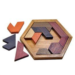 Wholesale wood shapes geometric - Kids Puzzles Wooden Toys Tangram Jigsaw Board Wood Geometric Shape P Children Educational Toys