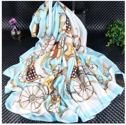 Wholesale Orange Class - Beautiful Silk Scarves 180x90cm ELEGANT LADY Upper Class Women's Scarves and Wraps Shawls Pashmina Hijabs Luxury Brand Scarves Real Silk sca