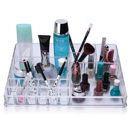 Wholesale Professional Jewelry Storage - Professional Acrylic Clear Makeup Organizer Cosmetic Lipstick Brush Drawer Display Jewelry Storage Container Stand Holders Shelf