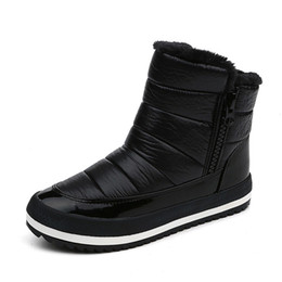 Wholesale Plus Size Black Slip - Women Winter Boots New Brand Waterproof Shoes Woman Snow Boots Fur Plush Inside Zip Plus Size Warm Women Boots . SP-027