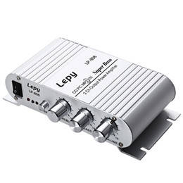 Wholesale Portable Power Amplifier - 12V MiNi Portable Wired HiFi Super Bass Amplifier for Mobile Phone MP3 PC with Volume Control Wall Charger Super Bass