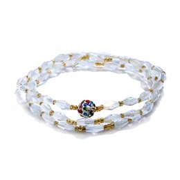 Wholesale Pottery Bracelets - Fashion Five Star Shell Bracelet Natural Crystal Peninsula five-star shell soft pottery diamond Bracelet Ornament Handle Party Wedding Gift