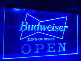 Wholesale Open Pub - LE113b- OPEN Budweiser Beer NR Pub Bar LED Neon Light Sign