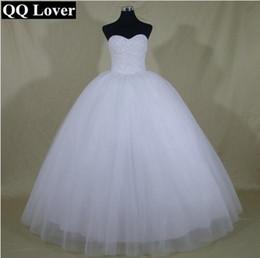 Argentina 2017 Robe De Mariage Princesa Bling Bling cristales de lujo blanco vestido de bola vestido de novia por encargo Vestido De Noiva Suministro