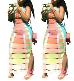 Wholesale Womens Velour Sets - Free shipping sexy women sleeveless two pieces set dress printed african-style clothing fashion casual womens dresses