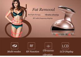 Wholesale Lipo Massage - Potable RF Cavitation Ultrasonic LED Body Slimming Massager Fat Burner Anti Cellulite Lipo Radio Frequency Massage Beauty Device