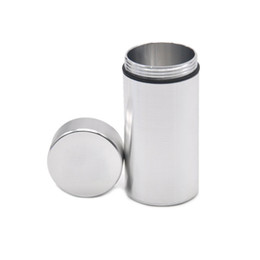 Wholesale Colorful Water airProof Can with logo Rubber Air Tight Silver RAW Aluminum Airtight Cylinder Stash Case Tobacco Herb Storage Bottles Box
