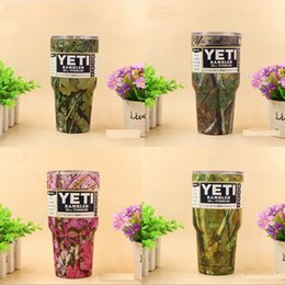 Wholesale Christmas Gift Cups - 2017 4 colors Camouflage YETI Mugs 30OZ Camouflage Stainless Steel Insulated Rambler Tumbler YETI Cups Christmas Gifts